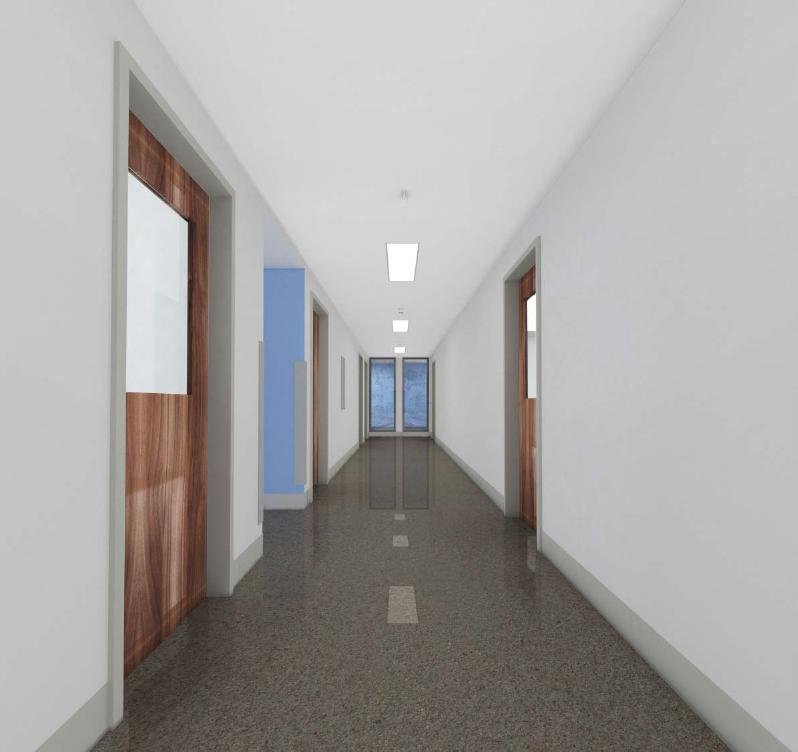 Vue dans le corridor du niveau 2